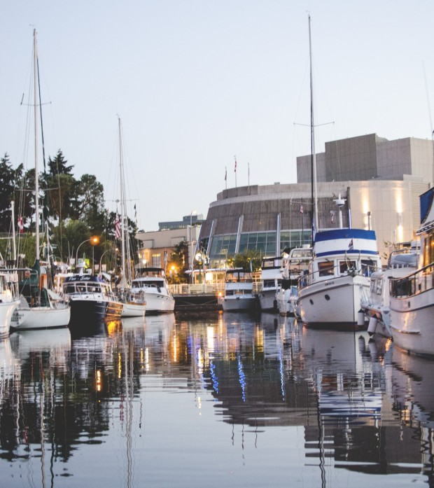 The Port Theatre as seen from the Nanaimo Marina